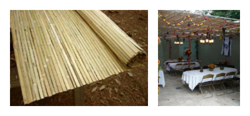 Kosher Bamboo S'chach Mats from The Sukkah Project™